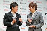 (L to R) Miho Fukumoto (Belle), Asano Nagasato (Beleza), November 13, 2012 - Football / Soccer : Plenus Nadeshiko LEAGUE 2012 Award ceremony in Tokyo, Japan. (Photo by Yusuke Nakanishi/AFLO SPORT)..