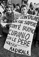 - demonstration against the  nuclear power station of Caorso (April 1977), Emma Bonino of the Radical Party<br /> <br /> - manifestazione contro la  centrale nucleare di Caorso (aprile 1977), Emma Bonino del Partito Radicale