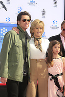 LOS ANGELES - APR 26:  Jim Carrey, Jane Fonda, Viva Vadim at the Jane Fonda Hand and FootPrint Ceremony at the Chinese Theater on April 26, 2013 in Los Angeles, CA