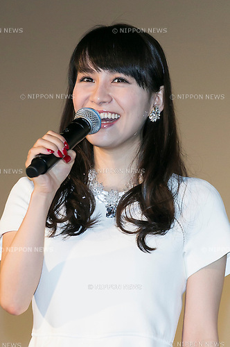 A-chan a member of the Japanese pop girl group Perfume speaks during a stage greeting for the movie ''WE ARE Perfume WORLD TOUR 3rd DOCUMENT'' at TOHO CINEMAS in Roppongi on October 24, 2015, Tokyo, Japan. Perfume's movie will be released in Japanese theaters on October 31. The screening is part of the 28th Tokyo International Film Festival which is one of the biggest film festivals in Asia and runs from October 22 to Saturday 31. (Photo by Rodrigo Reyes Marin/AFLO)