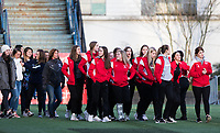 Seattle, WA - Saturday March 24, 2018: King's soccer, state champions during a regular season National Women's Soccer League (NWSL) match between the Seattle Reign FC and the Washington Spirit at the UW Medicine Pitch at Memorial Stadium.