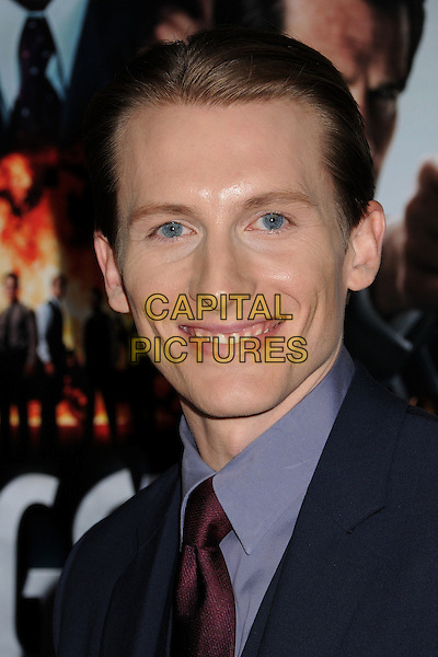 "James Hebert.""Gangster Squad"" Los Angeles Premiere held at Grauman's Chinese Theatre, Hollywood, California, USA..January 7th, 2013.headshot portrait red maroon tie blue suit.CAP/ADM/BP.©Byron Purvis/AdMedia/Capital Pictures."