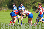 Tralee's Kirsty Grant tries to get by UL Bohemian defence at O'Dowd park, Tralee on Sunday.