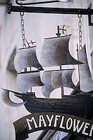 "Europe/France/Poitou-Charente/17/Charente-Maritime/La Rochelle: Enseigne du bar-cabaret ""Le Mayflower"""