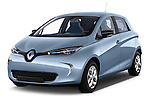 Front three quarter view of a 2013 Renault Zoe Life ZE Hatchback2013 Renault Zoe Life ZE Hatchback