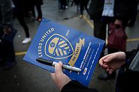 Fans outside Elland Road, home of Leeds United<br /> <br /> Photographer Alex Dodd/CameraSport<br /> <br /> The EFL Sky Bet Championship - Leeds United v Birmingham City - Saturday 19th October 2019 - Elland Road - Leeds<br /> <br /> World Copyright © 2019 CameraSport. All rights reserved. 43 Linden Ave. Countesthorpe. Leicester. England. LE8 5PG - Tel: +44 (0) 116 277 4147 - admin@camerasport.com - www.camerasport.com