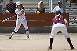 Western Nevada Wildcats' Heather Septon hits against North Idaho College at Edmonds Sports Complex, in Carson City, Nev., on Friday, April 18, 2014.<br /> Photo by Cathleen Allison/Nevada Photo Source