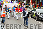 Former Minister Pat Carey leads  the Kerry Pride Parade as Grand Marshall through the Tralee Mall on Saturday