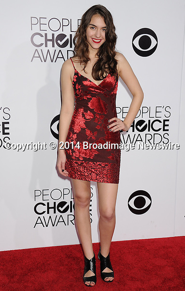 Pictured: Quinn Shephard<br /> Mandatory Credit &copy; Gilbert Flores /Broadimage<br /> 2014 People's Choice Awards <br /> <br /> 1/8/14, Los Angeles, California, United States of America<br /> Reference: 010814_GFLA_BDG_285<br /> <br /> Broadimage Newswire<br /> Los Angeles 1+  (310) 301-1027<br /> New York      1+  (646) 827-9134<br /> sales@broadimage.com<br /> http://www.broadimage.com
