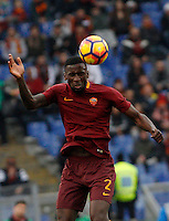 Roma&rsquo;s Antonio Ruediger heads the ball during the Italian Serie A football match between Roma and Napoli at Rome's Olympic stadium, 4 March 2017. <br /> UPDATE IMAGES PRESS/Riccardo De Luca
