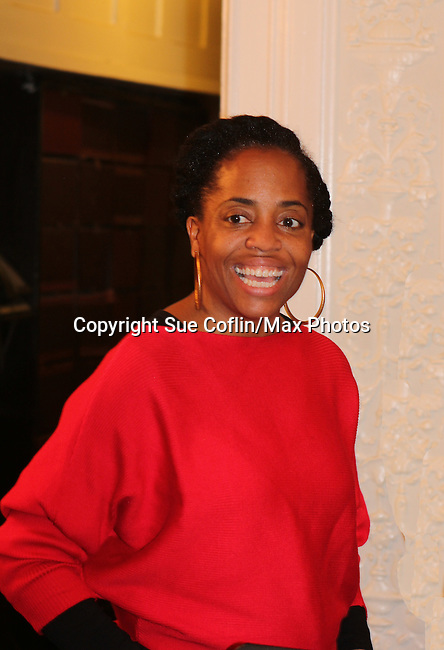 Actress and singer Rhonda Ross (Another World) - Hearts of Gold links to a better life celebrates Christmas with a party #2 for mothers and their children on December 17, 2016 in New York City, New York with arts and crafts, a great turkey dinner with all the goodies and then the children met Santa Claus and had a photo with him as he gave them gifts. (Photo by Sue Coflin/Max Photos)