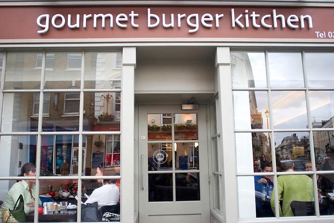 Exterior, Sign, GBK Restaurant, East London, London, Great Britain, Europe