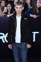 "WESTWOOD, LOS ANGELES, CA, USA - MARCH 18: Garrett Clayton at the World Premiere Of Summit Entertainment's ""Divergent"" held at the Regency Bruin Theatre on March 18, 2014 in Westwood, Los Angeles, California, United States. (Photo by David Acosta/Celebrity Monitor)"