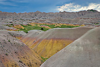 Eroded clay mounds in Dillon Pass; Badlands National Park, SD