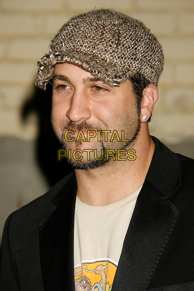 JOEY FATONE.US Weekly Presents Us' Hot Hollywood 2007 held at Sugar,  Hollywood, California, USA..April 26th, 2007.headshot portrait knitted tweed beige brown hat goatee facial hair .CAP/ADM/RE.©Russ Elliot/AdMedia/Capital Pictures