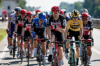 Per usual Frederik Frison (BEL/Lotto-Soudal) puts himself at the helm of the peloton once the breakaway has cleared to set the pace for the next 200km<br /> <br /> 'La Primavera' (Spring) in summer!<br /> 111st Milano-Sanremo 2020 (1.UWT)<br /> 1 day race from Milano to Sanremo (305km)<br /> <br /> the postponed edition > exceptionally held in summer because of the Covid-19 pandemic calendar reshuffle