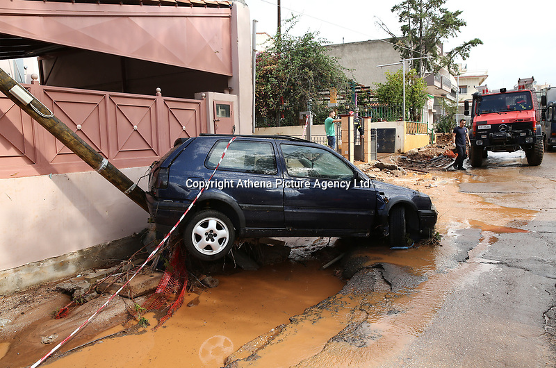 Flashflooding Has Been Caused By Storm Nefeli In Parts Of Greece