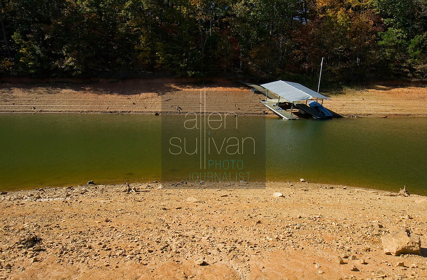A grounded dock on Lake Lanier. The lake provides water for parts of Georgia, Alabama and Florida.