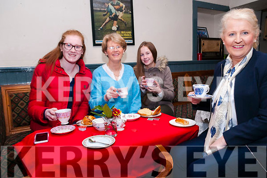Valentine's Coffee Morning: Attending the Valentine's Coffee morniing in aid  of the North Kerr branch of the MS Society held at Tomasin's Bar, Liselton on Saturday morniing last were Orla Cullen, Margaret Kissane, Lauren Murphy & Anne Murphy.