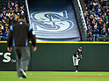 Ichiro Suzuki (Marlins),<br /> APRIL 19, 2017 - MLB :<br /> Ichiro Suzuki of the Miami Marlins throws the ball during the Major League Baseball game against the Seattle Mariners at Safeco Field in Seattle, Washington, United States. (Photo by AFLO)