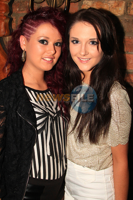 Emma Comerford and Shaunagh Farrelly in Shooters on New Year's Eve..Picture: Shane Maguire / www.newsfile.ie.