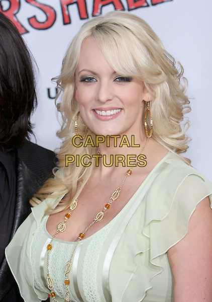 "STORMY DANIELS.""Forgetting Sarah Marshall"" Los Angeles Premiere held at Grauman's Chinese Theatre, Hollywood, California, USA..April 10th, 2008.headshot portrait green gold necklace .CAP/ADM/CH.©Charles Harris/AdMedia/Capital Pictures"