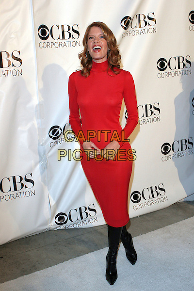 MICHELLE STAFFORD.CBS, Paramount, UPN, Showtime, and King World 2006 TCA Winter Press Tour Party - Arrivals held at the Wind Tunnel, Pasadena, California..January 18th, 2006.Photo: Zach Lipp/AdMedia/Capital Pictures.Ref: ZL/ADM.full length red dress black boots.www.capitalpictures.com.sales@capitalpictures.com.© Capital Pictures.