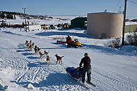 Colleen Robertia leaves the Elim checkpoint during the 2010 Iditarod