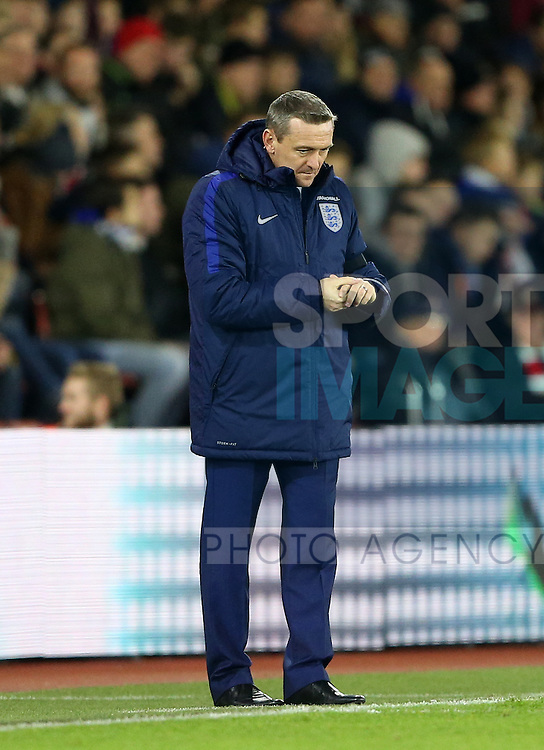 England's Aidy Boothroyd looks on ruefully during the Under 21 International Friendly match at the St Mary's Stadium, Southampton. Picture date November 10th, 2016 Pic David Klein/Sportimage