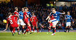 Martyn Waghorn blasts home his hat-trick of goals with his third of the night