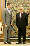 Felipe VI of Spain attends in audience the Head of the Government of the Kingdom of Morocco, Mr. Abdelilah Benkiran, during their attendance at the High Level Meeting XI Spanish-Moroccan (RAN). June 4,2015. (ALTERPHOTOS/Acero)