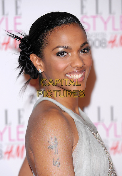 FREEMA AGYEMAN.Attending the ELLE Style Awards 2008,.The Westway, London, England,.February 12th 2008..portrait headshot.CAP/BEL.©Tom Belcher /Capital Pictures