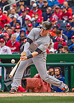 7 April 2016: Miami Marlins first baseman Justin Bour in action during the Washington Nationals Home Opening Game at Nationals Park in Washington, DC. The Marlins defeated the Nationals 6-4 in their first meeting of the 2016 MLB season. Mandatory Credit: Ed Wolfstein Photo *** RAW (NEF) Image File Available ***
