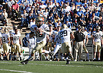 03 November  2007:  Army quarterback, Carson Williams attempts a pass during the Air Force Falcon's 30-10 victory over the Army's Black Knights at Falcon Stadium, Air Force Academy, Colorado Springs, Colorado.