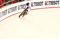 Picture by Alex Whitehead/SWpix.com - 09/12/2017 - Cycling - UCI Track Cycling World Cup Santiago - Velódromo de Peñalolén, Santiago, Chile - Republic of Korea's Hyejin Lee competes in the Women's Sprint qualifying. Tissot Branding.