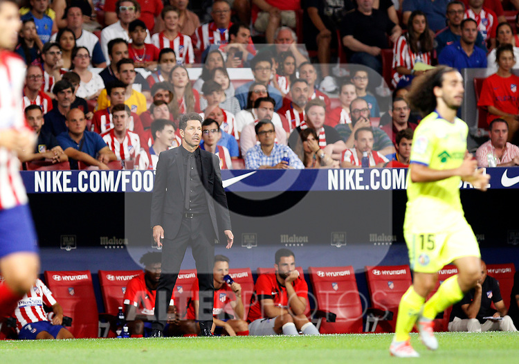 Atletico de Madrid's coach Diego Pablo Simeone during La Liga match. Aug 18, 2019. (ALTERPHOTOS/Manu R.B.)