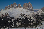 View from top of Belevedere Ski Area, Canazei, Italy, .  John offers private photo tours in Denver, Boulder and throughout Colorado, USA.  Year-round. .  John offers private photo tours in Denver, Boulder and throughout Colorado. Year-round.