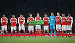 Arsenal's players pay their respects to Brazil's Chapecoense football team during the EFL Cup match at the Emirates Stadium, London. Picture date October 30th, 2016 Pic David Klein/Sportimage