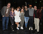 """Castmembers making their Broadway debuts during the Broadway Opening Night Actors' Equity Legacy Robe Ceremony honoring Jill Abramovitz for """"Beetlejuice"""" at The Wintergarden on April 25, 2019  in New York City."""