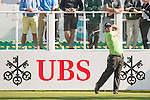 Patrick Reed of USA tees off the first hole during the 58th UBS Hong Kong Open as part of the European Tour on 08 December 2016, at the Hong Kong Golf Club, Fanling, Hong Kong, China. Photo by Marcio Rodrigo Machado / Power Sport Images