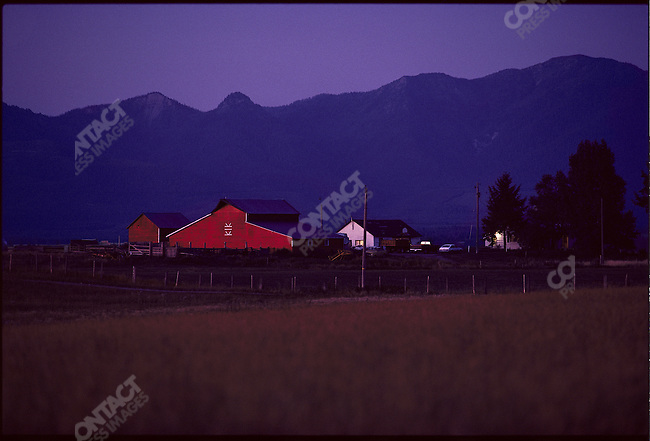 """The Red Farm"" near Kalispell, Montana, USA, August 1982"