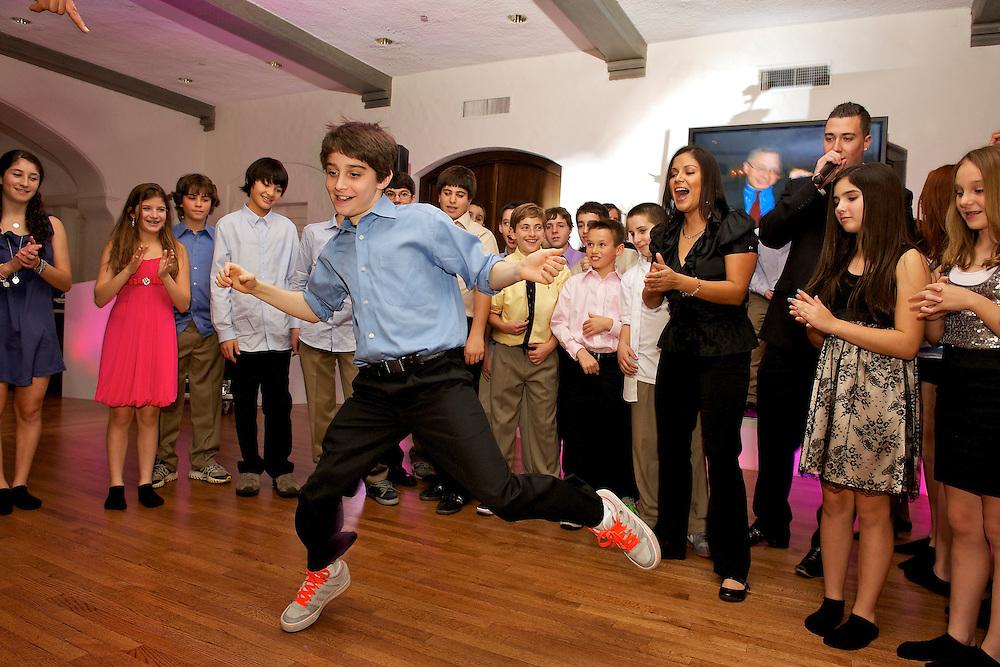 Dancing acrobatics.