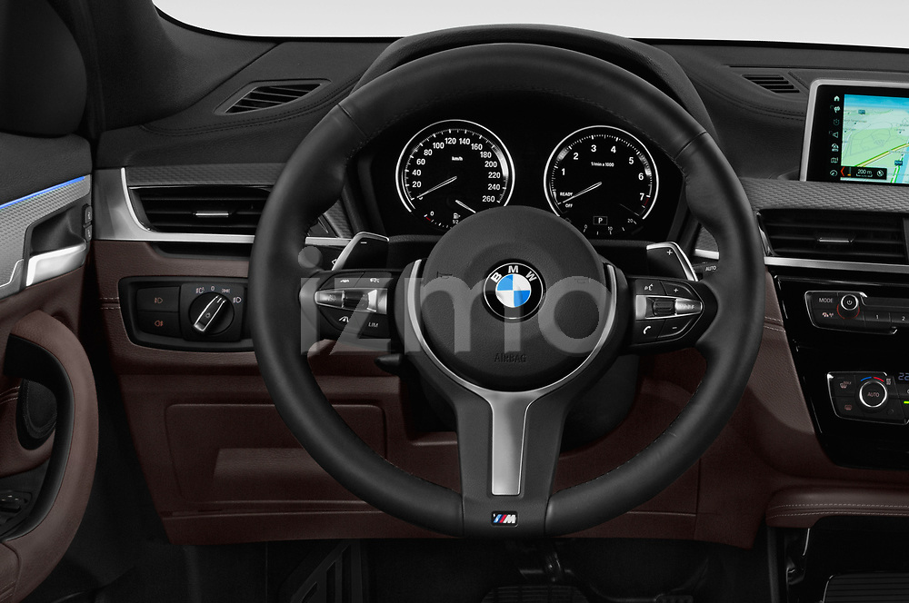 Car pictures of steering wheel view of a 2018 BMW X2 M Sport X 5 Door SUV