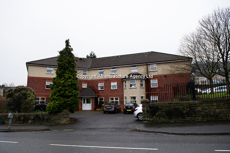 """Pictured: A General View of St Martin's Court, Morriston, Swansea, Wales, UK. Thursday 24 January 2019<br /> Re: An 86 year old female pensioner who broke her leg had to wait almost two days for an ambulance to take her to hospital.<br /> Staff at St Martin's Court Care Home in Swansea called 999 when Mary Duffy, who suffers with dementia fell from a chair on Sunday evening which caused her limb to break in two places.<br /> They were advised by 999 staff not to give the woman any food or drink before the paramedics arrive.<br /> It was not until 5.30pm on Tuesday that an ambulance arrived to take her to hospital.<br /> Her son Tim said: """"When I called the second time they told staff to get her ready, but time was going on, and she was in agony, so they gave her painkillers.<br /> """"I am fuming about the wait she had to endure, although that is not all directed at the paramedics or hospital hospital staff or staff at the care home.""""<br /> """"All of them were brilliant, and the service they provided was excellent but it is the system at fault."""" he added."""