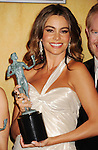 LOS ANGELES, CA - JANUARY 27: Sofia Vergara poses at the 19th Annual Screen Actors Guild Awards at The Shrine Auditorium on January 27, 2013 in Los Angeles, California.