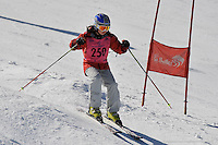 MT BULLER, AUSTRALIA, 28 August 2008 - Mia Low competing in the Moguls event at the Victorian Interschools Snowsports Championships held at Mt Buller, Victoria on 28 August 2008. Photo by Sydney Low / AsteriskImages.com