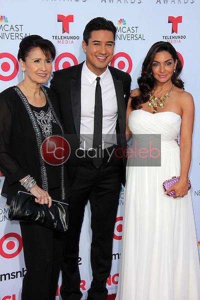 Mario Lopez with mother and wife<br /> at the 2013 NCLR ALMA Awards Arrivals, Pasadena Civic Auditorium, Pasadena, CA 09-27-13<br /> David Edwards/Dailyceleb.com 818-249-4998