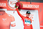 Pascal Ackermann (GER) Bora-Hansgrohe wins Stage 1 and takes the first leaders Red Jersey of the Deutschland Tour 2019, running 167km from Hannover to Halberstadt, Germany. 29th August 2019.<br /> Picture: ASO/Marcel Hilger | Cyclefile<br /> All photos usage must carry mandatory copyright credit (© Cyclefile | ASO/Marcel Hilger)