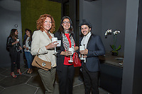 Katy McLaughlin, Isabel Gento and Alexander Ali attend the VIP Preview of The Camden Lifestyle at Hollywood + Vine on April 26, 2016 (Photo by Inae Bloom/Guest of a Guest)