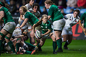 16th March 2018, Ricoh Arena, Coventry, England; Womens Six Nations Rugby, England Women versus Ireland Women; Nicole Cronin of Ireland clears the ball from a ruck